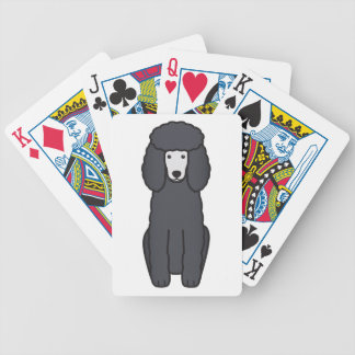 Poodle Dog Cartoon Bicycle Playing Cards