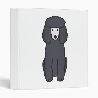 Poodle Dog Cartoon Binder