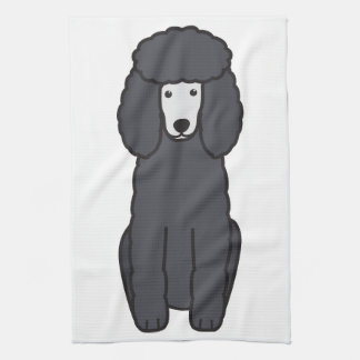 Poodle Dog Cartoon Hand Towel