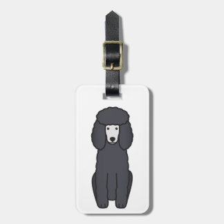 Poodle Dog Cartoon Bag Tags