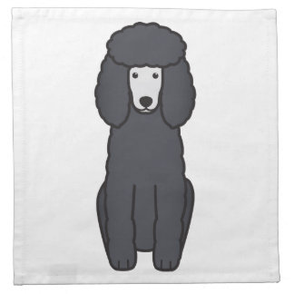 Poodle Dog Cartoon Napkin