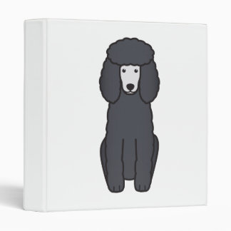 Poodle Dog Cartoon Vinyl Binder