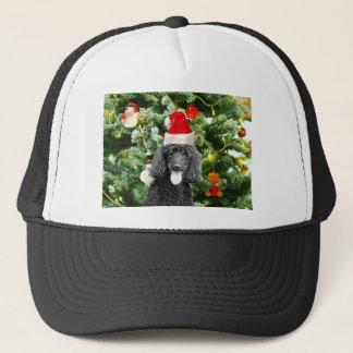 Poodle Dog Christmas Tree Snowman Red Santa Hat