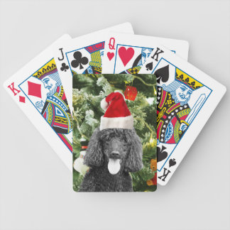 Poodle Dog Christmas Tree Snowman Red Santa Hat Bicycle Playing Cards