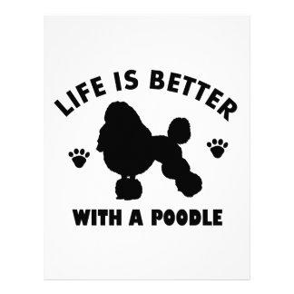 poodle dog design letterhead