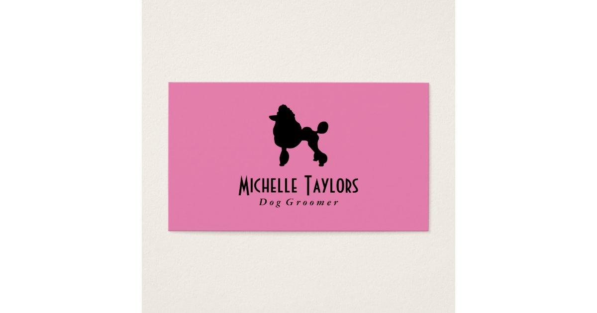 Poodle | Dog Groomer Business Card | Zazzle.com