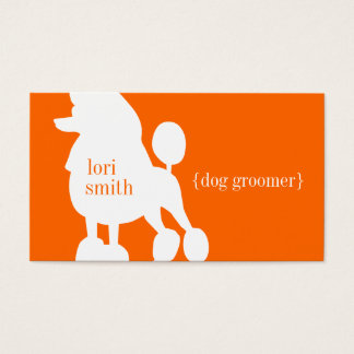 Poodle Dog Groomer Business Card