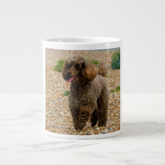 Poodle dog miniature beautiful photo at beach large coffee mug
