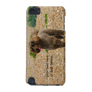 Poodle dog miniature beautiful photo beach custom iPod touch (5th generation) cover