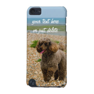 Poodle dog miniature beautiful photo beach custom iPod touch (5th generation) covers