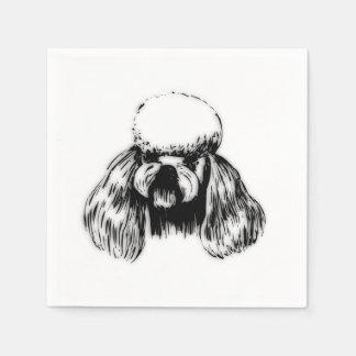 Poodle Dog Standard Cocktail Napkin