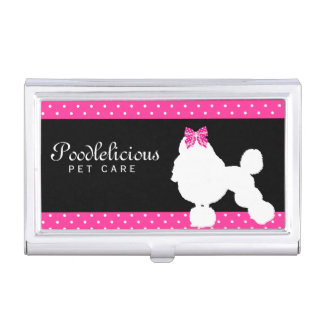 Poodle Dog Pet Grooming Care Kennel Modern Cute Case For Business Cards