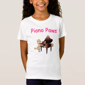 Poodle (Dog) Pianist Piano Paws Shirt