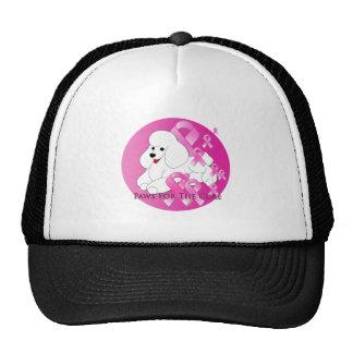 Poodle Dog Pink Ribbon Trucker Hat