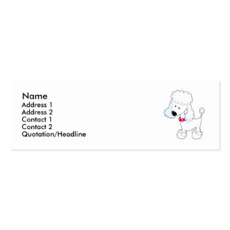 Poodle Double-Sided Mini Business Cards (Pack Of 20)