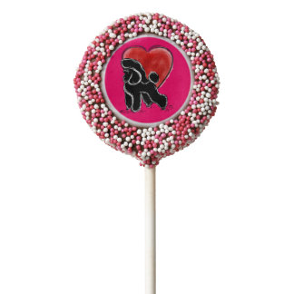 Poodle Drawing Chocolate Dipped Oreo Pop