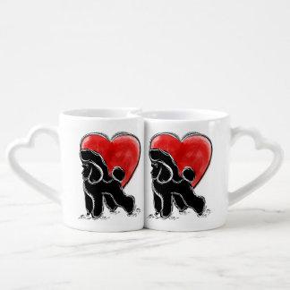 Poodle Drawing Coffee Mug Set
