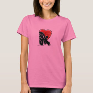 Poodle Drawing T-Shirt