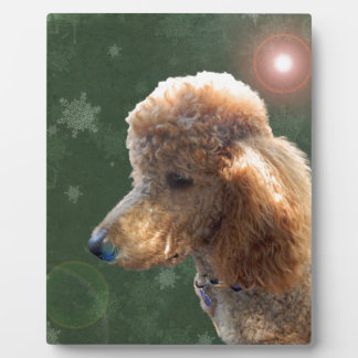 POODLE FOR THE HOLIDAYS PLAQUE