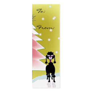 Poodle gift tags business card templates