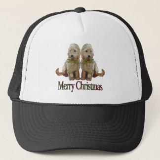 Poodle, Golden Doodle Couple Christmas: Art Trucker Hat