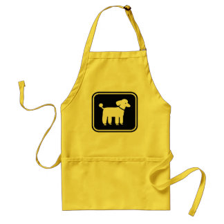 Poodle Graphic Adult Apron
