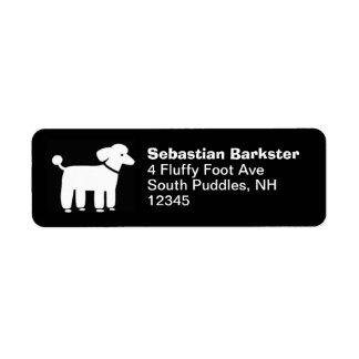 Poodle Graphic (Black) Return Address Label