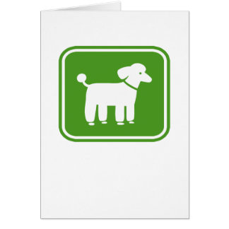 Poodle Graphic (Green) Card