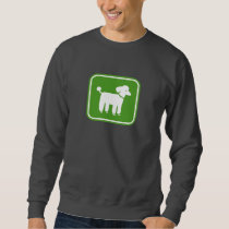 Poodle Graphic (Green) Sweatshirt
