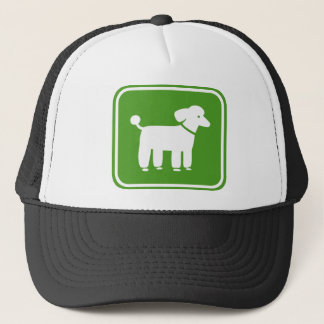 Poodle Graphic (Green) Trucker Hat