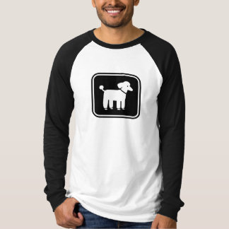 Poodle Graphic (White on Black) Tee Shirt