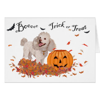 Poodle Halloween Greeting Card