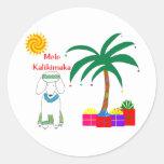 Poodle Hawaiian Christmas Sticker