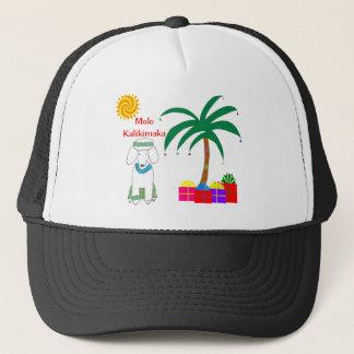 Poodle Hawaiian Christmas Trucker Hat