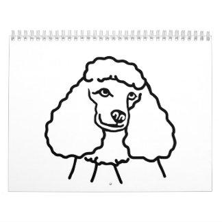 Poodle head wall calendars