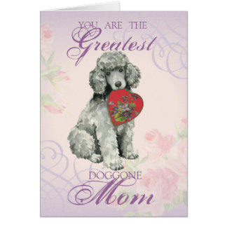 Poodle Heart Mom Card