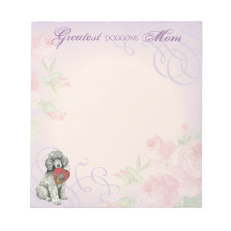 Poodle Heart Mom Note Pads