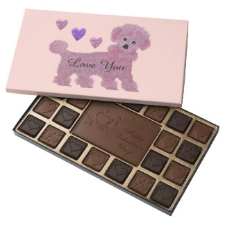 Poodle Hearts 45 Piece Assorted Chocolate Box
