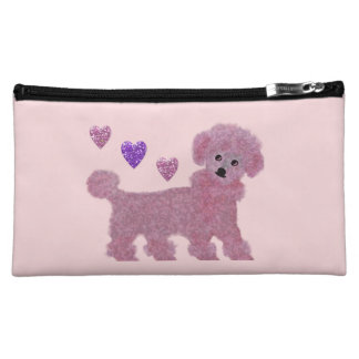 Poodle Hearts Cosmetic Bag