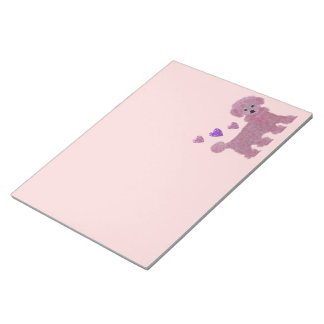 Poodle Hearts Note Pads
