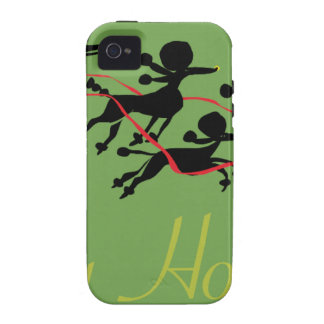 Poodle Holiday card iPhone 4 Covers