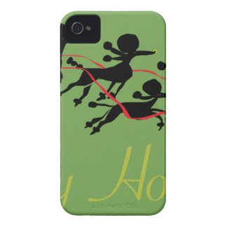 Poodle Holiday card Case-Mate iPhone 4 Case