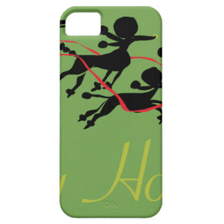 Poodle Holiday card iPhone 5 Cases