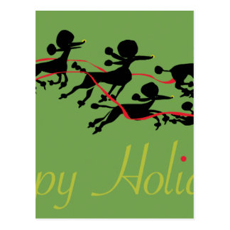 Poodle Holiday card Postcards