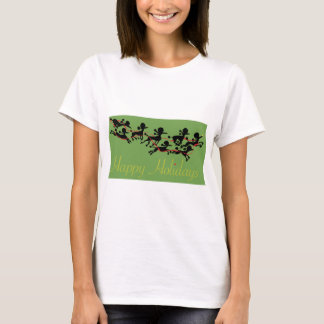 Poodle Holiday card T-Shirt