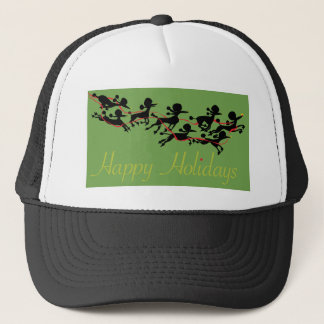 Poodle Holiday card Trucker Hat