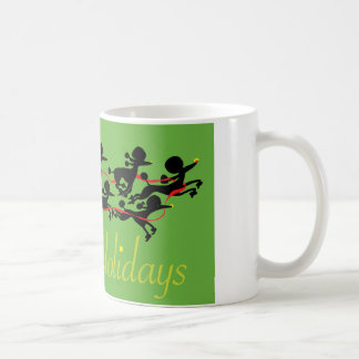 Poodle holiday coffee mug