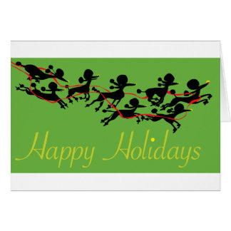 Poodle holiday greeting card