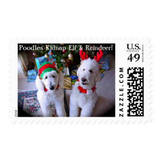 Poodle Holiday Postage