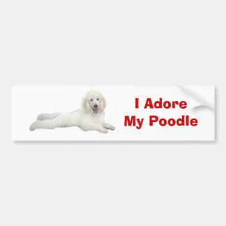 Poodle I Adore Bumper Sticker